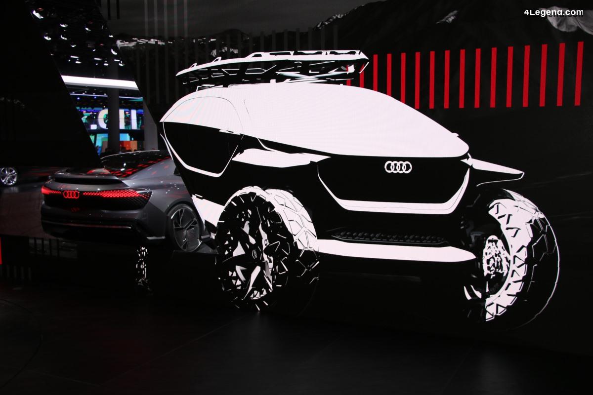 IAA 2019 - Exposition des 4 concept cars Audi AI:CON, AI:RACE, AI:ME, AI:TRAIL quattro