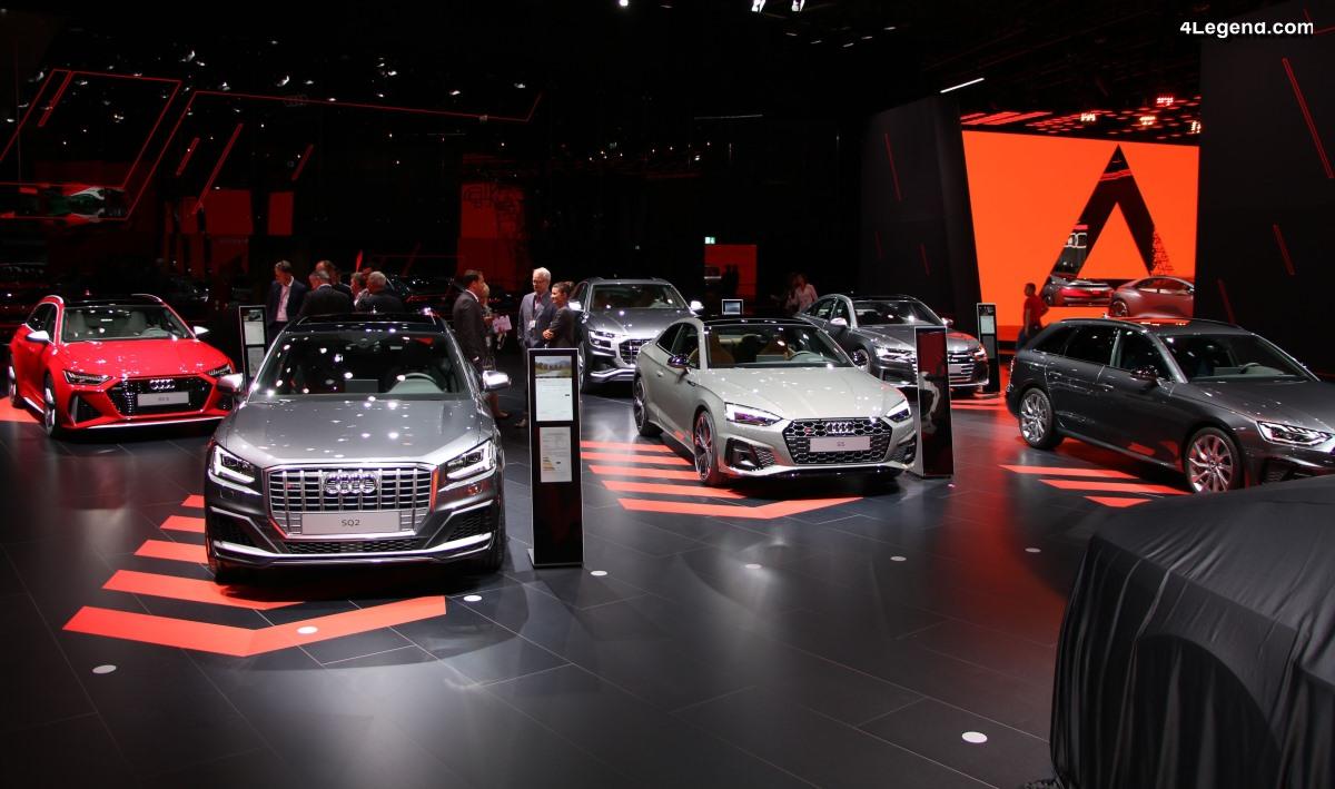 IAA 2019 - Exposition de nombreux modèles sportifs d'Audi avec quelques nouveautés