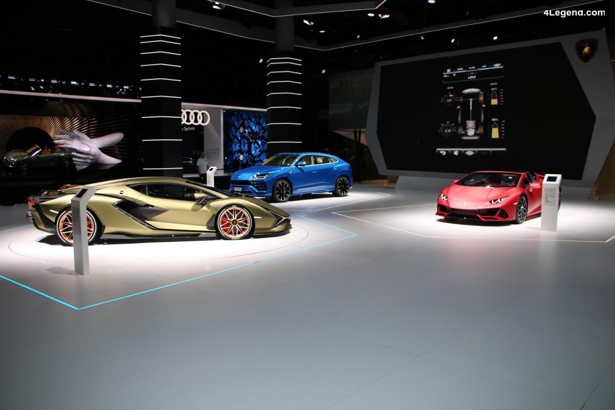 IAA 2019 - Modèles Lamborghini exposés sur le stand