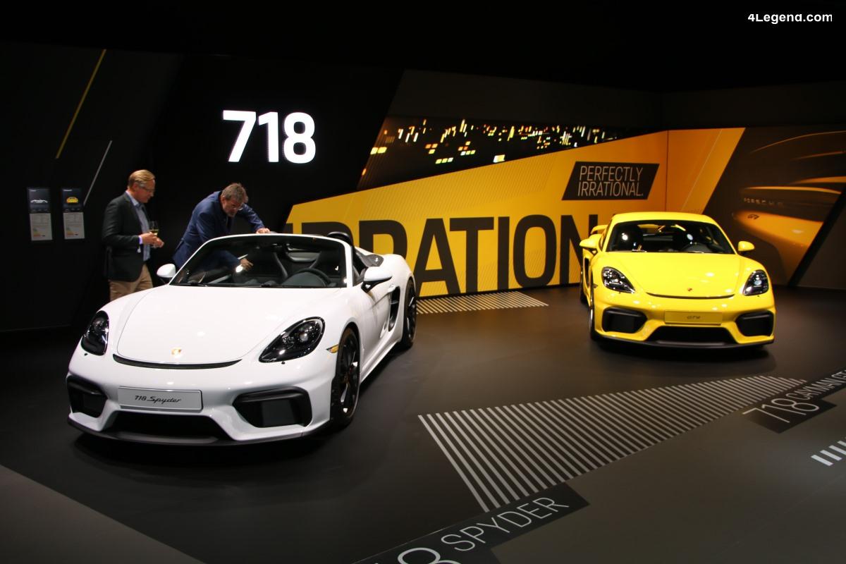 IAA 2019 - Nouvelles Porsche 718 Spyder & 718 Cayman GT4