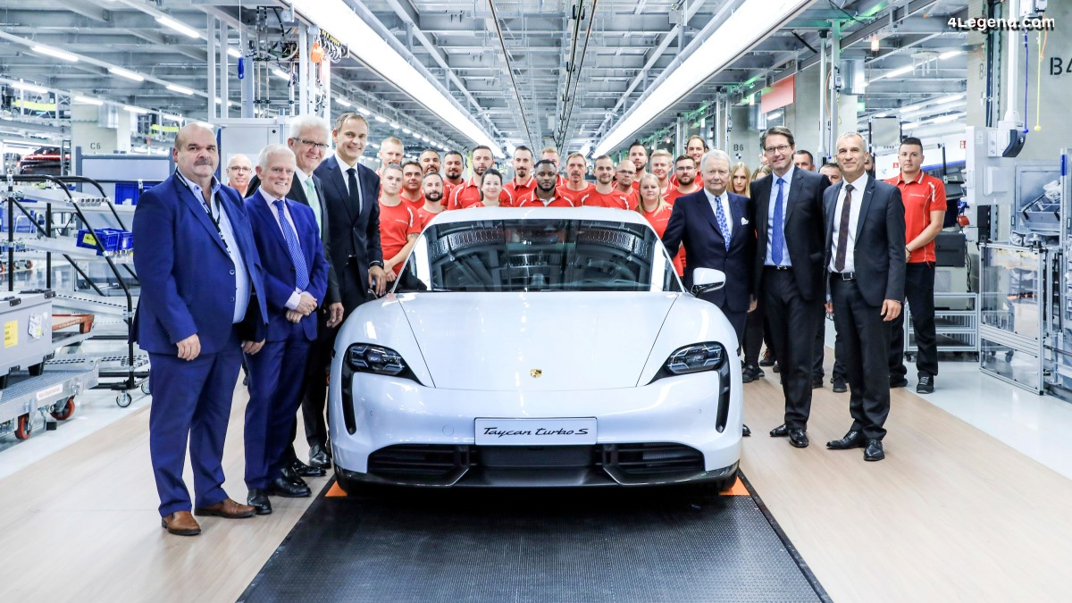 Inauguration de l'usine du Porsche Taycan