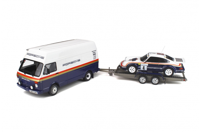 Miniatures 1:18 - Pack Rallye 1000 Pistes 1984 - Porsche 911 SC RS & VW LT40 par Ottomobile