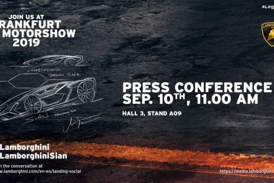 IAA 2019 – Live conférence de presse Lamborghini à 11h00 le 10/09/19