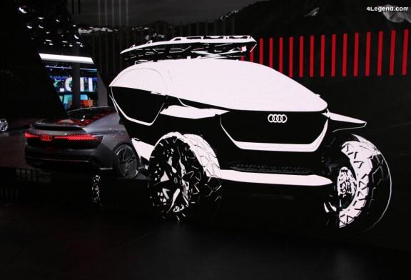IAA 2019 – Exposition des 4 concept cars Audi AI:CON, AI:RACE, AI:ME, AI:TRAIL quattro