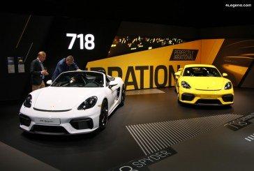 IAA 2019 – Nouvelles Porsche 718 Spyder & 718 Cayman GT4