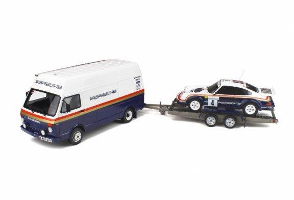 Miniatures 1:18 – Pack Rallye 1000 Pistes 1984 – Porsche 911 SC RS & VW LT35 par Ottomobile