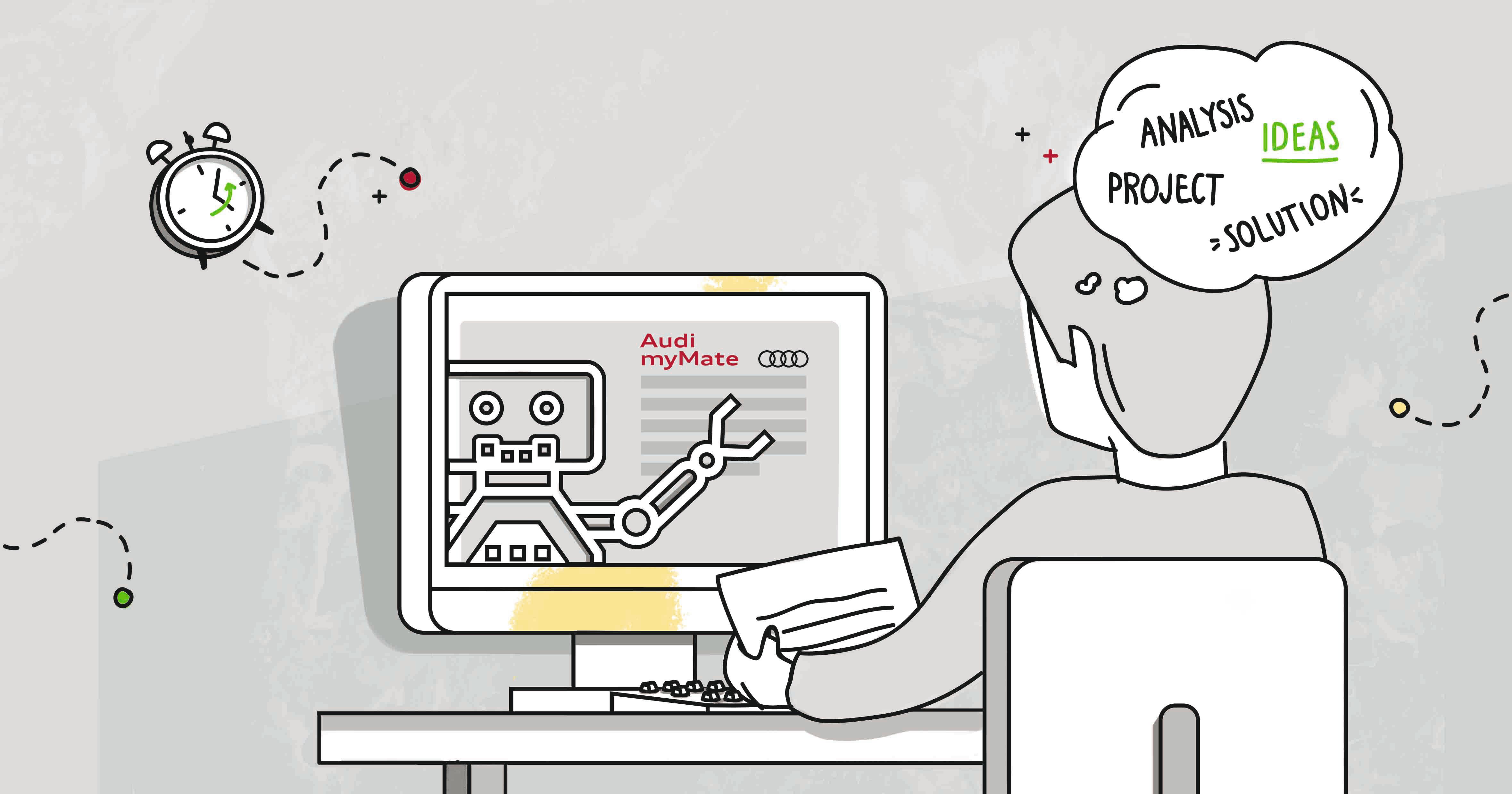 Des robots virtuels prennent en charge les employés d'Audi travaillant sur des PC