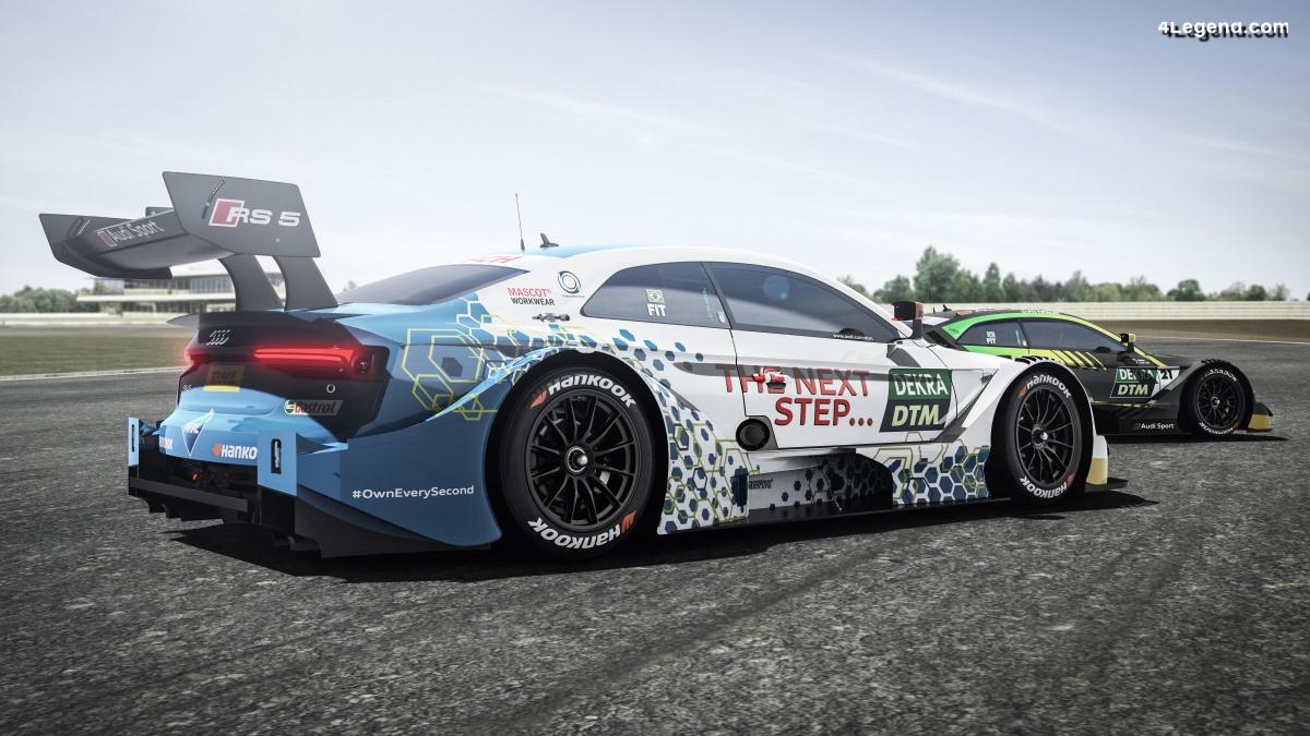 Une Audi RS 5 DTM avec un carburant innovant