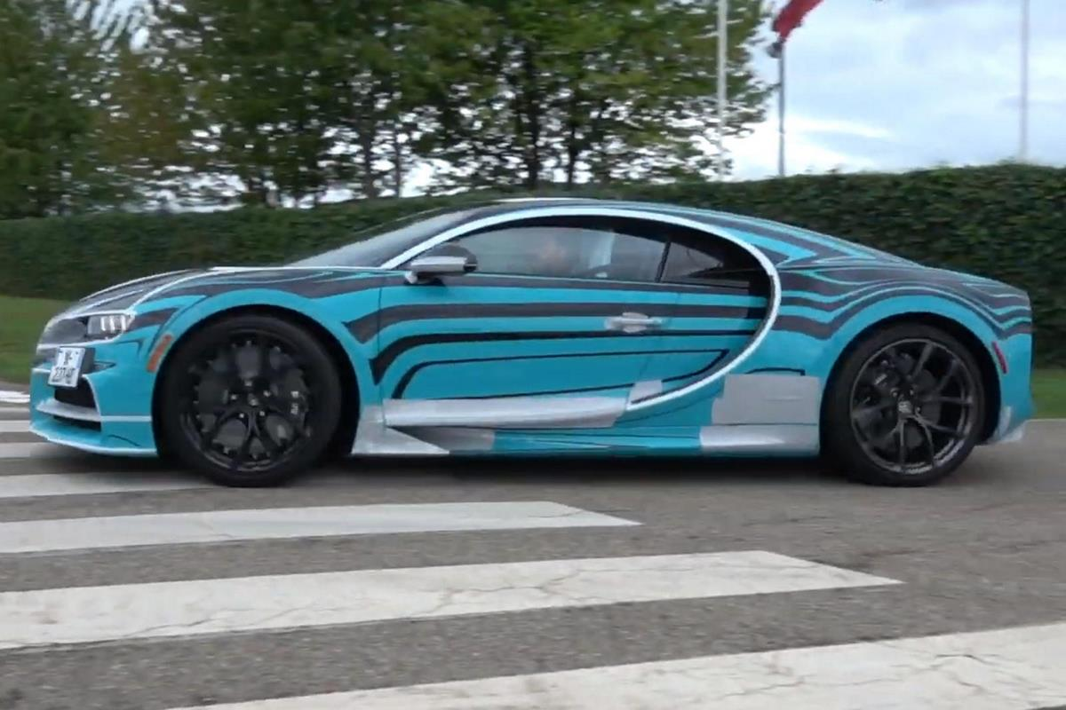 Bugatti Chiron Sport Zebra - Un modèle spécial rappelant la Veyron Le Saphir Bleu