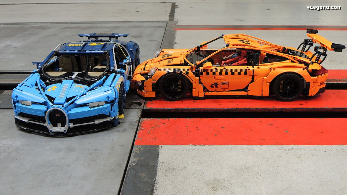 Crash-test - Porsche 911 GT3 RS vs Bugatti Chiron en LEGO