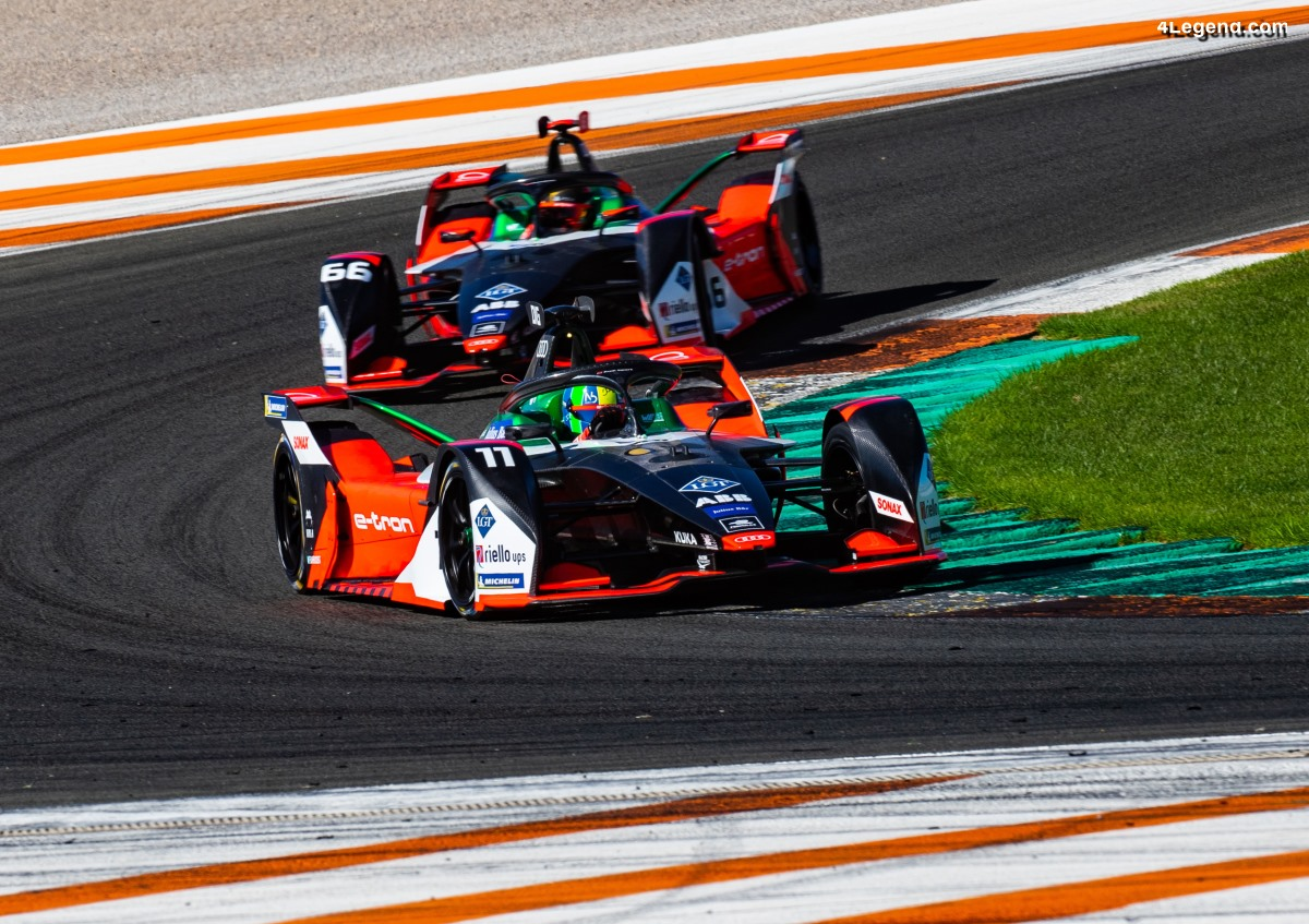 Première confrontation de l'Audi e-tron FE06 à ses rivales à Valence