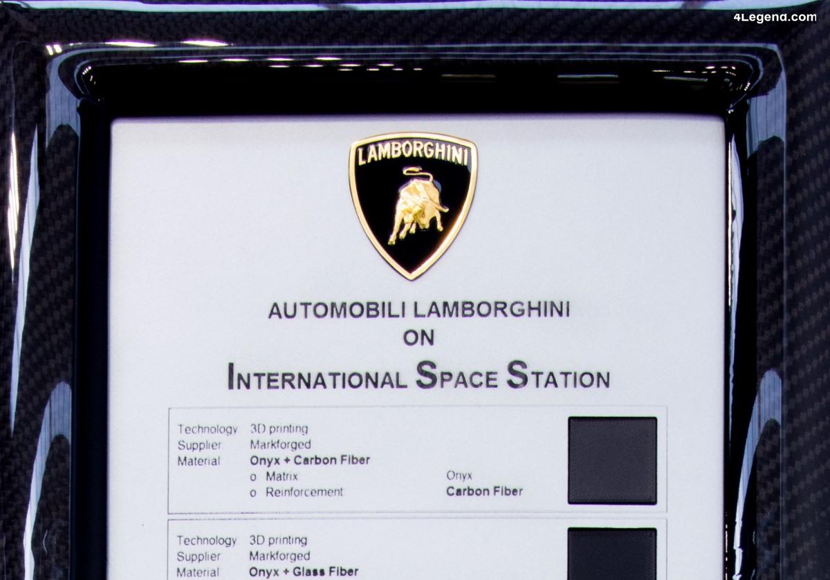 Lamborghini envoie des matériaux en fibres de carbone sur la Station spatiale internationale ISS