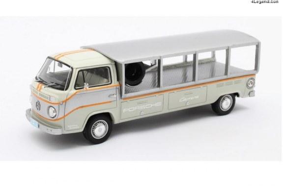Miniature 1:43 VW T2 Racetransporter Porsche – Matrix Scale Models