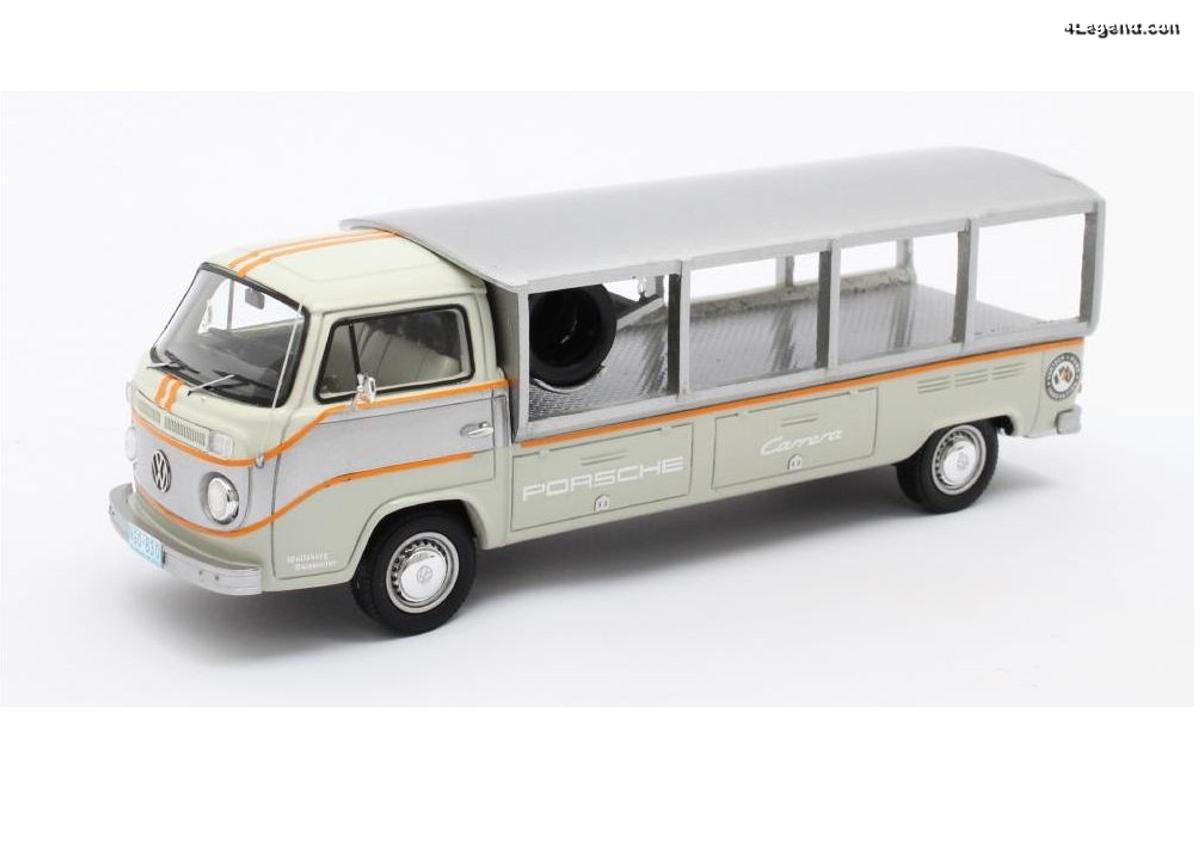 Miniature 1:43 VW T2 Racetransporter Porsche - Matrix Scale Models