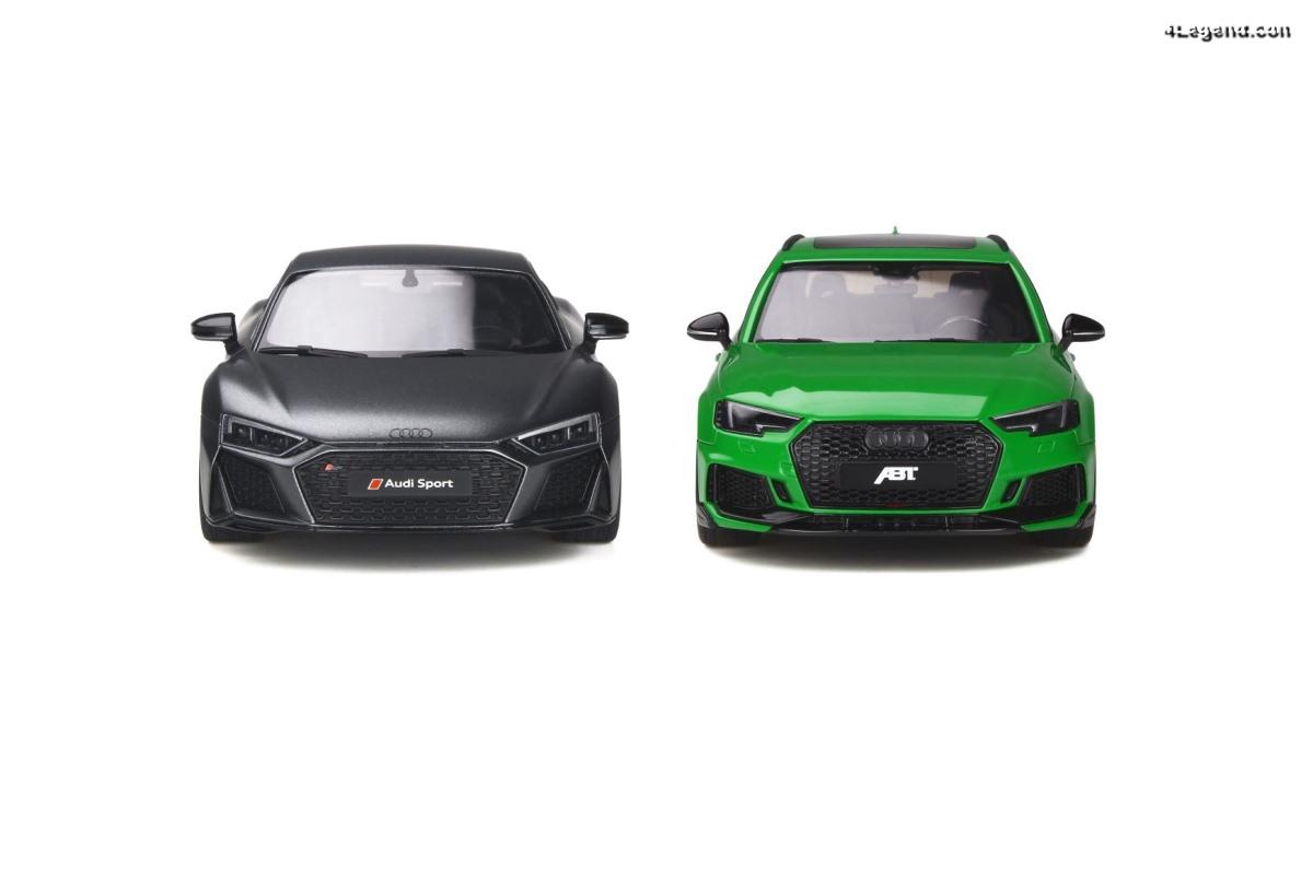 Nouveautés miniatures 1:18 GT Spirit : Audi R8 V10 Decennium & ABT RS4+