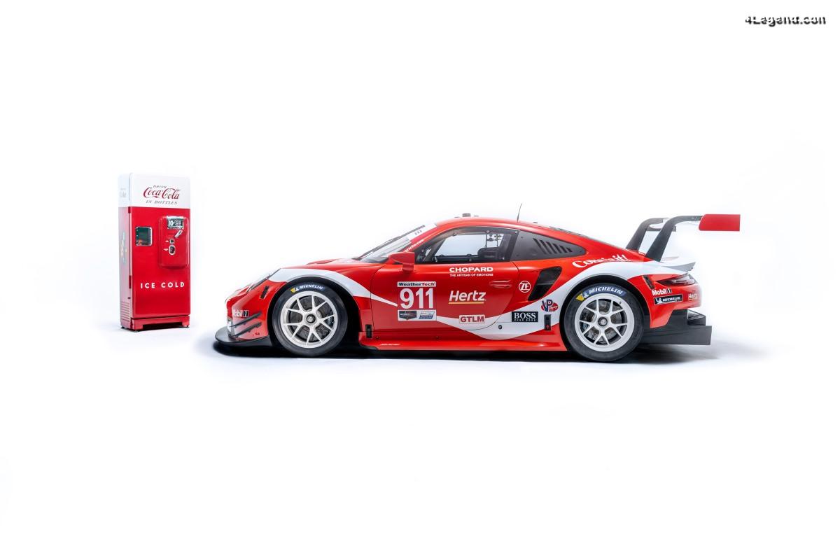 Deux Porsche 911 RSR au design Coca-Cola au Petit Le Mans 2019