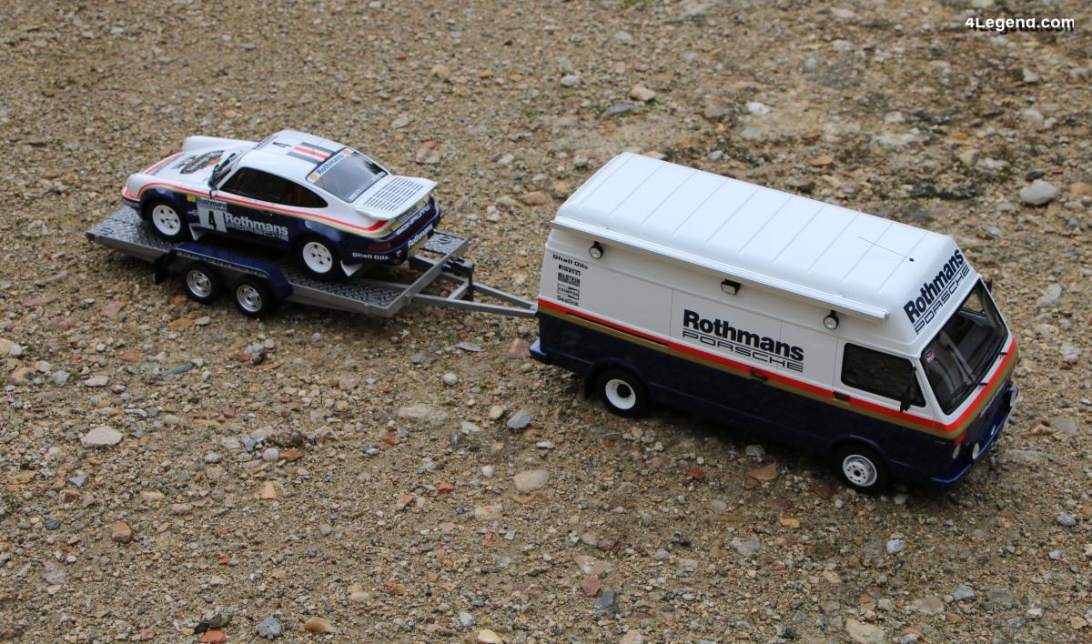 Présentation miniatures 1:18 Pack Rallye 1000 Pistes 1984 - Porsche 911 SC RS & VW LT40 par Ottomobile