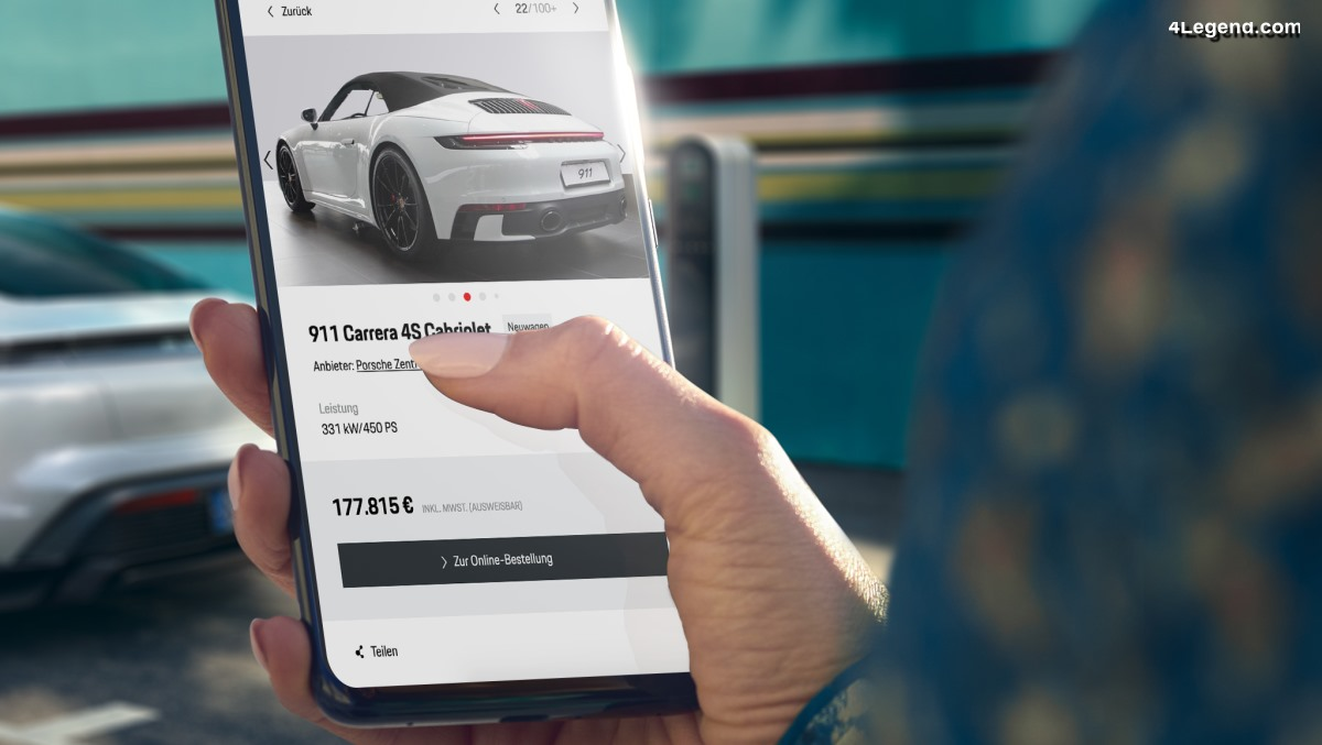 Porsche propose désormais d'acheter ses voitures neuves et d'occasion sur Internet