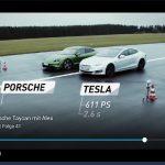 Porsche Taycan Turbo S vs Tesla Model S P100D : Quelle est la meilleure?