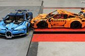 Crash-test – Porsche 911 GT3 RS vs Bugatti Chiron en LEGO
