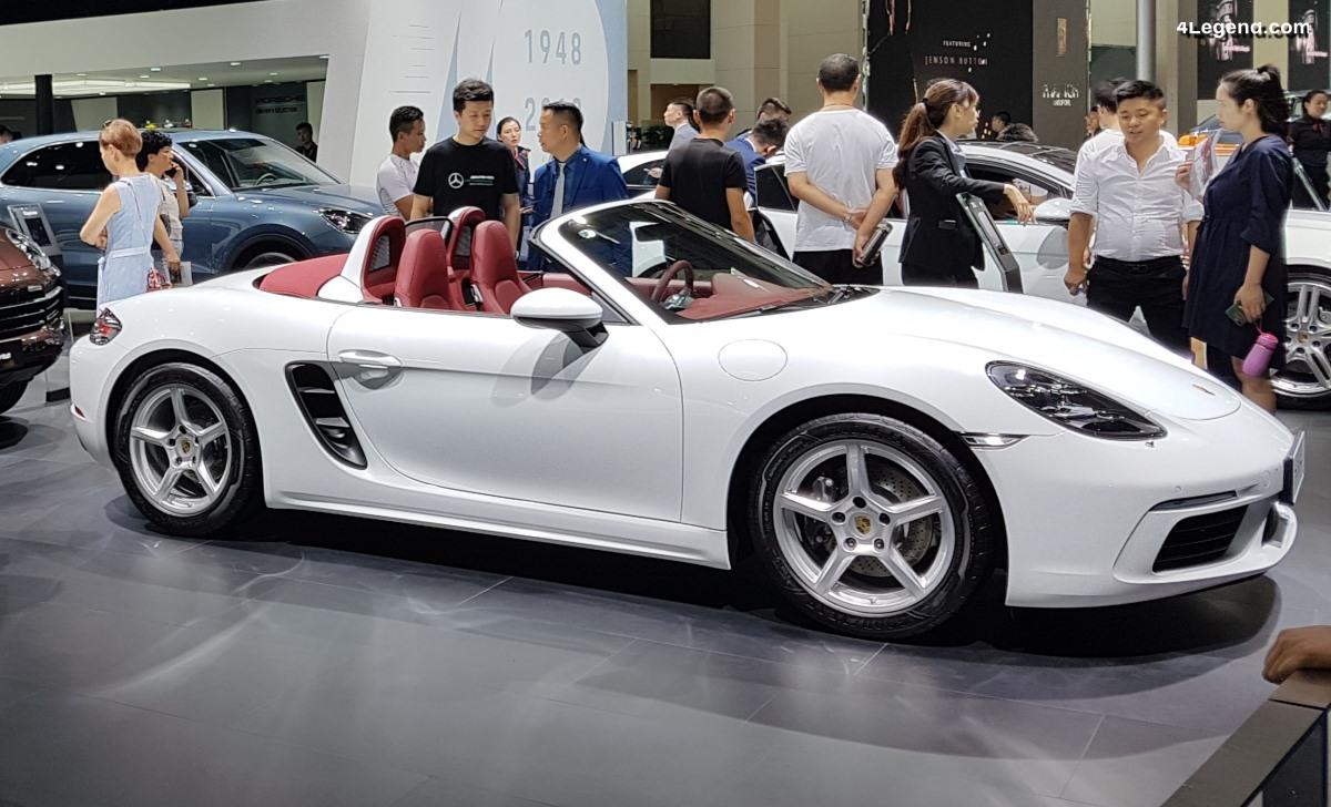 Anecdote - Les Porsche 718 Boxster et 718 Cayman n'existeraient pas sans le marché chinois