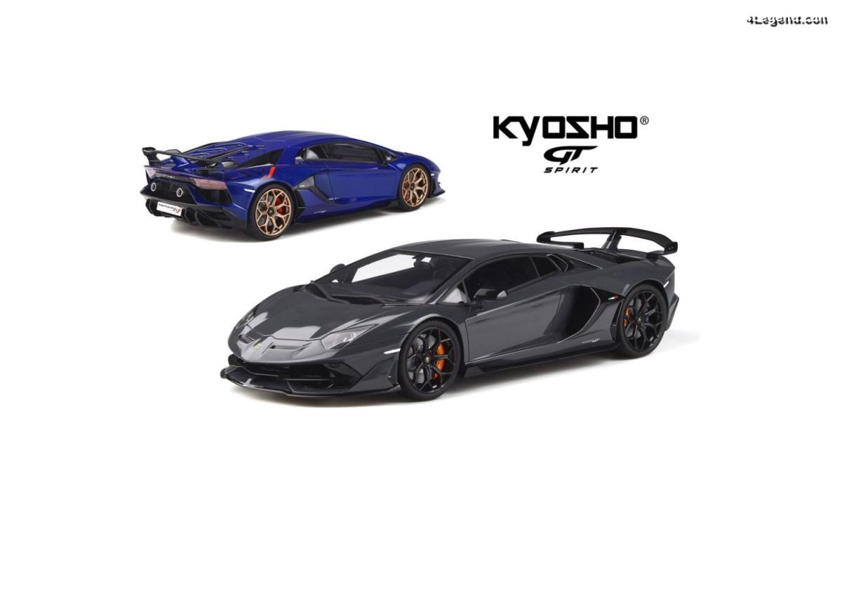 Miniatures 1:18 Lamborghini Aventador SVJ par GT Spirit / Kyosho