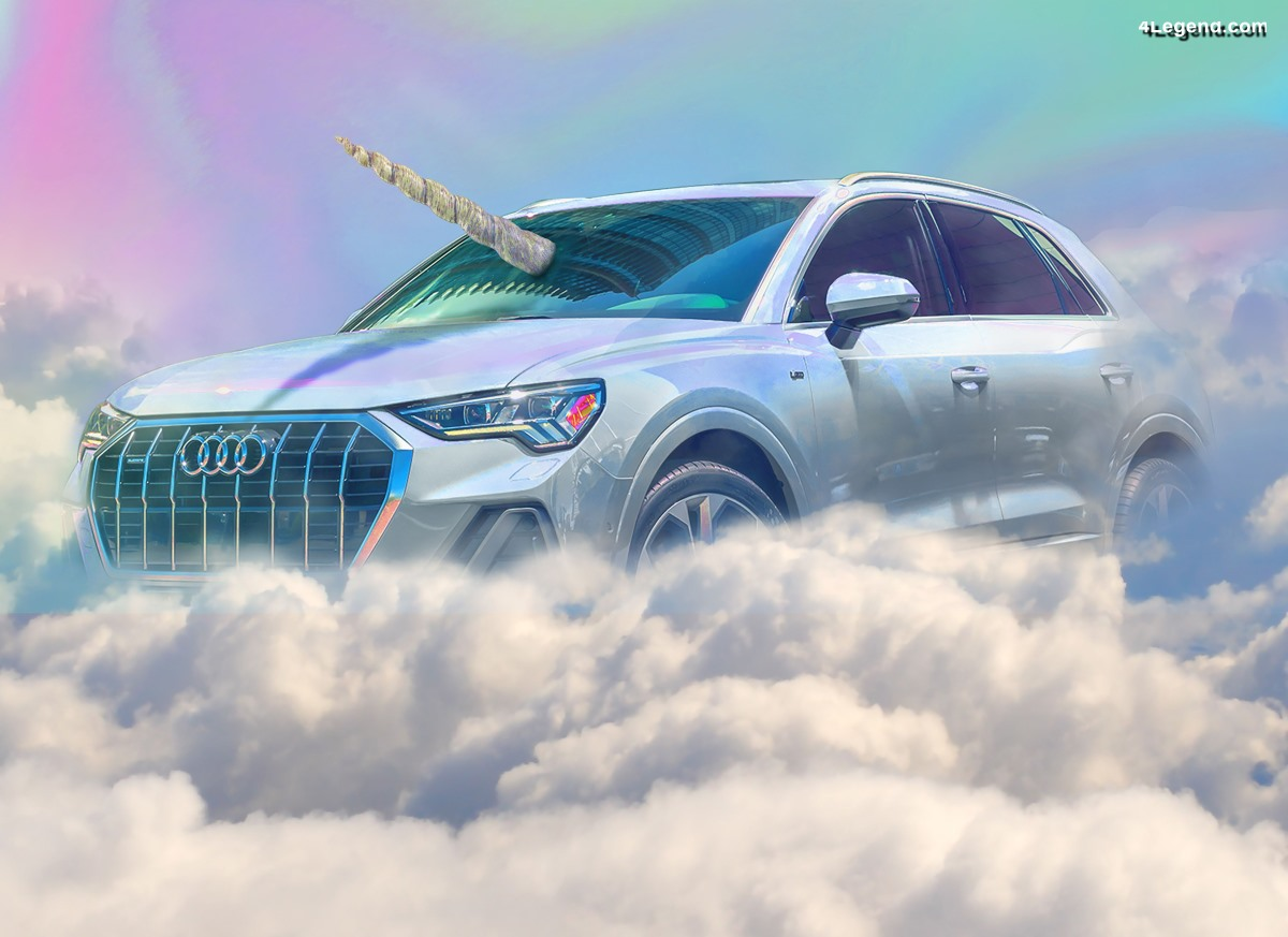 Qnicorn - Une Audi Q3 Licorne prend vie pour Halloween