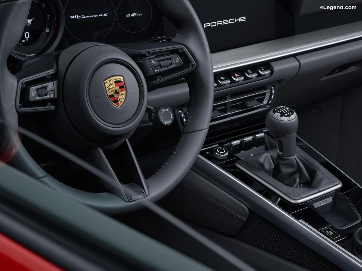 La boîte manuelle à 7 rapports arrive sur la Porsche 911 type 992
