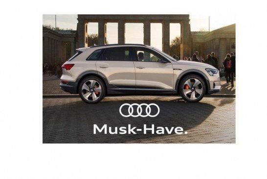 Audi souhaite la bienvenue à Tesla à Berlin à sa manière