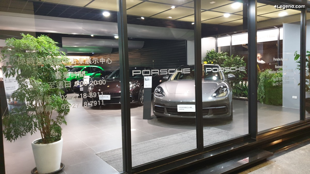 Visite du Porsche Approved Center Taipei à Taïwan