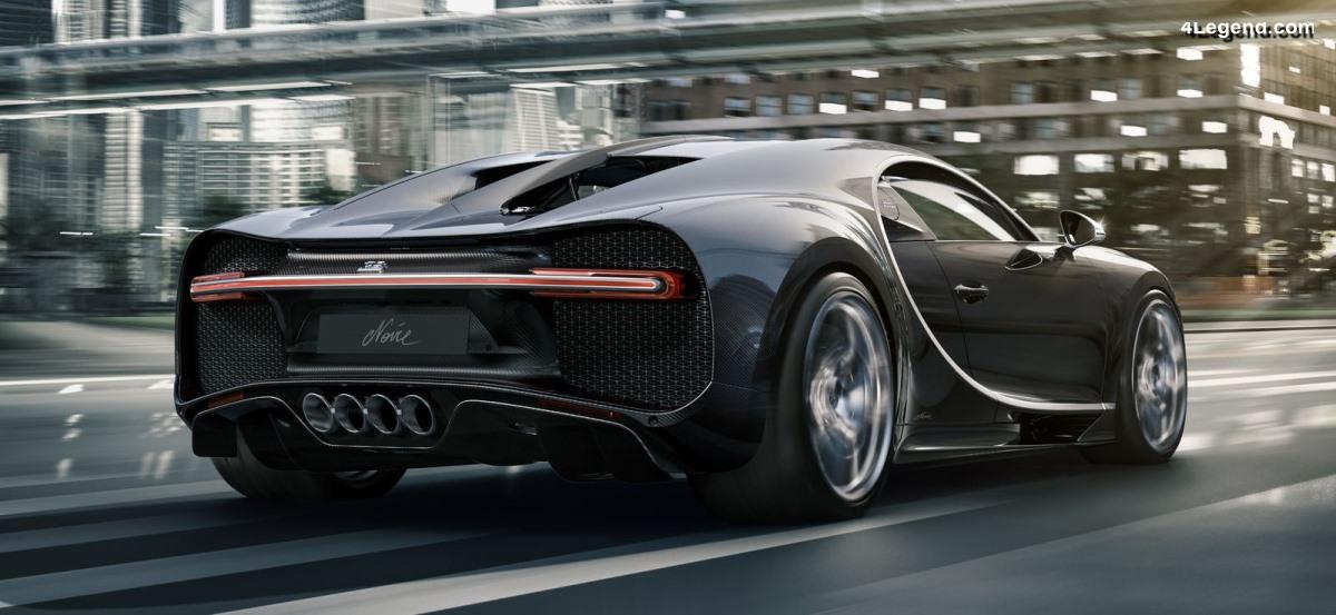 Bugatti Chiron Noire - Un modèle exclusif limité à 20 exemplaires