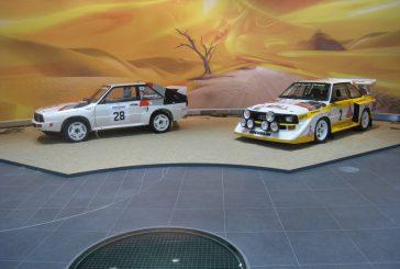 Exposition de voitures de rallye Groupe B au musée Audi à Ingolstadt