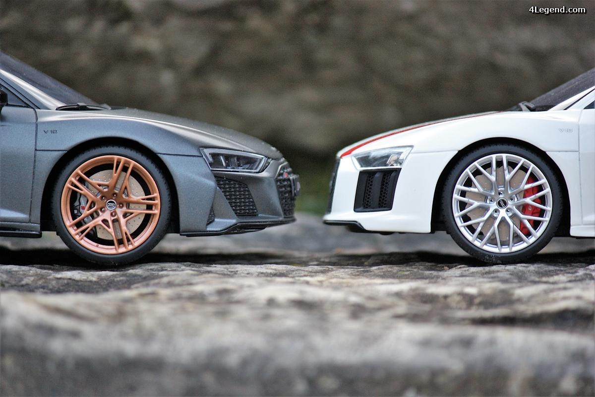 Audi R8 RWS et R8 Decennium: duel à l'échelle