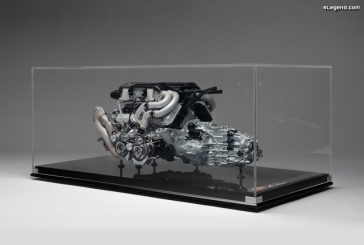 Miniature 1:4 du moteur W16 de la Bugatti Chiron par Amalgam Collection