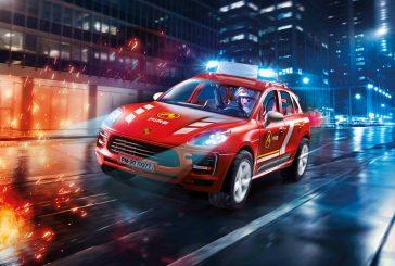 Miniature Playmobil 70277 - Porsche Macan S pompier