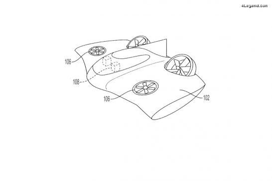 Porsche a déposé un brevet d'un véhicule volant