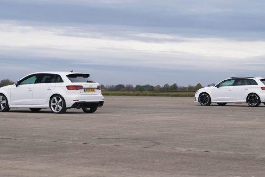 Drag races et différences entre Audi RS 3 2017 & RS 3 2019 avec modifications WLTP