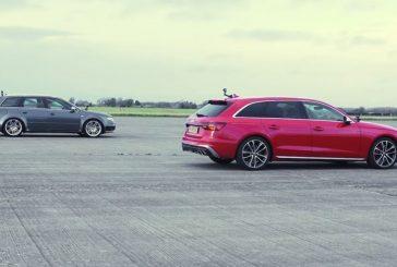 Drag race entre Audi RS 3, RS 5 Sportback, S4 TDI Avant & RS 4 Avant B7