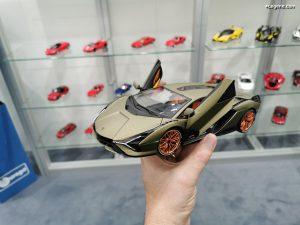 Lamborghini Sian PCF 37 année modèle 2019 vert échelle 1:18 de BBURAGO