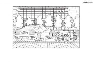 Un cahier de coloriage Audi à télécharger pour occuper vos enfants