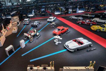Retro Classics 2020 - Stand Porsche mettant en avant l'électromobilité