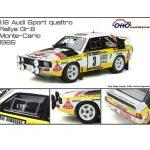 Miniature 1:18 Audi Sport quattro Groupe B – rallye Monte-Carlo 1985 – Ottomobile
