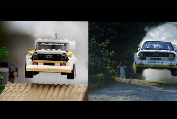 Des scènes de rallye mythiques d'Audi Sport quattro reproduites en LEGO