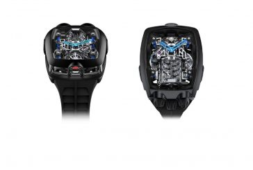 Montre Bugatti Chiron Tourbillon par Jacob & Co. : 256 000 euros et un moteur miniature fonctionnel