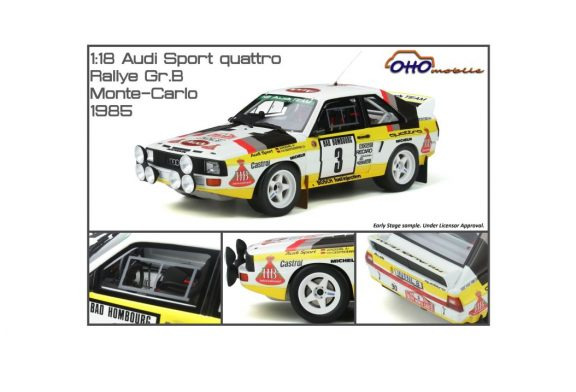 Miniature 1:18 Audi Sport quattro Groupe B - rallye Monte-Carlo 1985 - Ottomobile