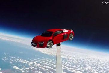 Une Audi R8 V10 plus envoyée dans l'espace