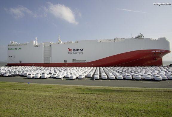 Le Groupe Volkswagen utilise un bateau alimenté en GNL pour sa logistique