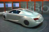 Exposition de voitures de cinéma à l'Audi museum mobile