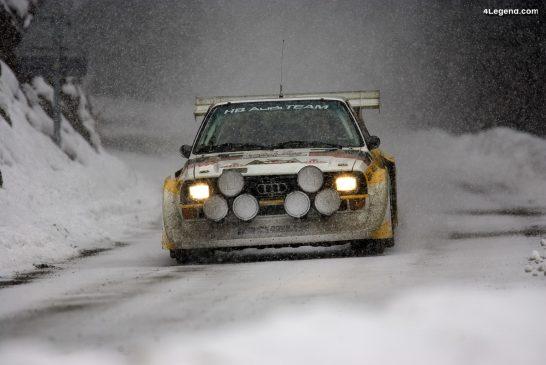 Évolution des Audi quattro en rallye de 1981 à 1987