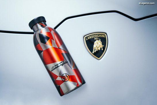 Une bouteille isotherme Lamborghini en édition limitée par 24Bottles
